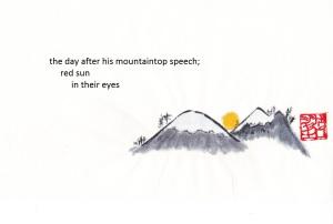 mountaintop speech haiga