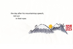 mountaintop speech haiga